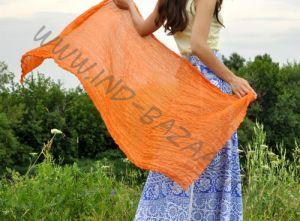 Оранжевый шарф из шёлка (в наличии в Москве)