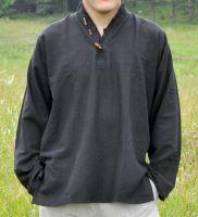 Мужская рубашка из органического хлопка черного цвета, Индия