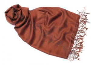 Горький шоколад, шарф 70% шёлк, 30% шерсть (Москва)