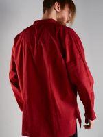 Темно красная мужская рубашка из хлопка, купить в интернет магазине с бесплатной доставкой