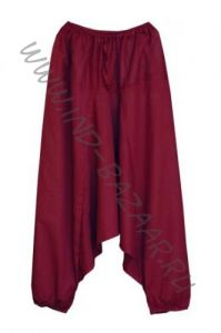(Разные цвета!) Штаны алладины из хлопка с узким поясом