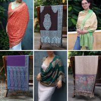 Купить красивые индийские палантины мелким оптом. Хлопок