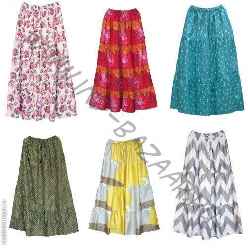 Купить летнюю юбку в пол