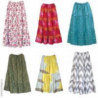 Купить длинные летние юбки в пол мелким оптом