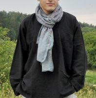 Тонкий летний хлопковый индийский шарф , мужской, женский. Купить в Москве