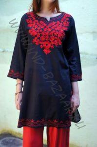 Женская индийская курта с вышивкой (СПб)
