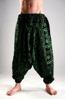Чёрные мужские хлопковые штаны афгани из Индии. Принт ОМ (Аум). Самовывоз, доставка. Интернет магазин Москва