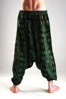 Чёрные мужские хлопковые штаны афгани из Индии. Принт ОМ (Аум). Самовывоз, доставка.