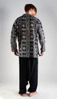 Чёрные мужские индийские рубашки, хлопок, интернет-магазин СПб