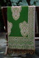 Индийский хлопковый палантин зеленого цвета